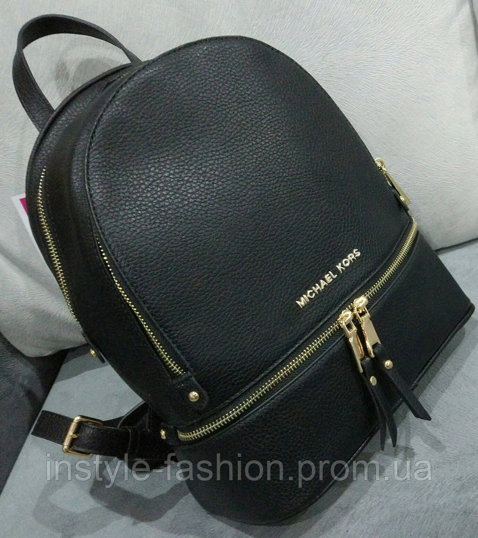 Рюкзак женский брендовый сумка Michael Kors Майкл Корс черный ... f0a9a9741e7