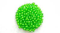 Бусины Акриловые 8 мм Зеленые Прозрачные Упаковка 50 гр/188 шт
