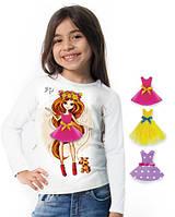 """Лонгслив и 3 сменных платья """"Top Doll""""; 3, 4, 5, 6-7, 8-9, 10-11, 12-13 лет, фото 1"""