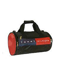 Спортивная сумка цилиндр маленькая черная