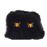 Павутина чорна з павуками, декор на Хеллоуїн