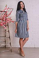 Женское ангоровое платье с клешной юбкой