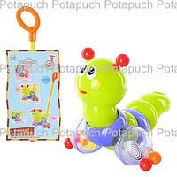 Детская развивающая игрушка гусеница каталка М686