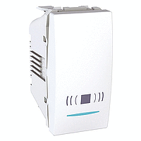 """Выключатель кнопка """"Звонок"""" с подсветкой Schneider Unica MGU3.106.18CN  Белый"""