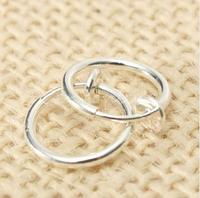 Cерьга кольцо обманка 10 мм для пирсинга (носа,ушей,губ) с фиксатором, фото 1