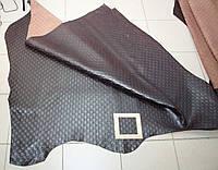Кожа GUCCI  коричневая фактурная 165, фото 1