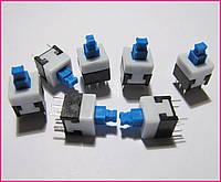 Кнопка 6 pin, 8,5х8,5х8,5мм, с фиксацией.