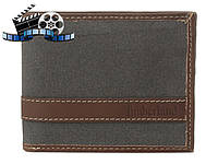 Кошелек Timberland Hunter Passcase Canvas-Leather, Charcoal, фото 1