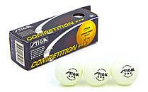 Кулі для настільного тенісу (3шт) дублікат 3 Star COMPETITION MT-5943
