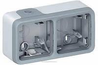 Коробка Plexo 2-ная для накладного монтажа Legrand Plexo Серый 69672