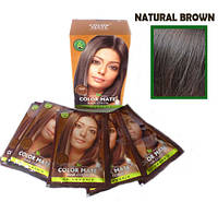 Натуральная индийская травяная краска (закрашивает седину) Natural Brown, фото 1