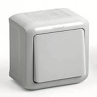 Выключатель одноклавишный влагозащищенный IP44 legrand Forix (Легранд Форикс) Серый 782380