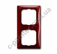 Рамка 2-я Abb Basic 55, 2512-97-507 красный