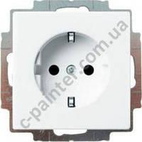 Розетка с заземлением и шторками Abb Basic 55, 20 EUCKS-94-507 белый