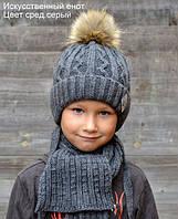 Шапочка детская Искусств.енот р.48-52  и 52-56 (сезон: зима) розница 196 грн опт от 116грн