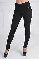Модные женские лосины из дайвинга на байке со вставками из джинса