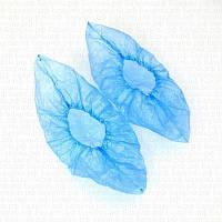 Бахилы полиэтиленовые 50пар/уп (3 г) TM RIO голубой