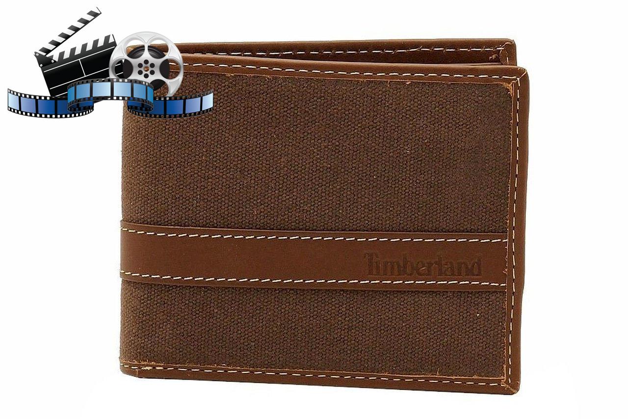 Кошелек Timberland Hunter Passcase Canvas-Leather, Brown