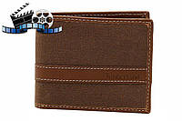 Кошелек Timberland Hunter Passcase Canvas-Leather, Brown, фото 1