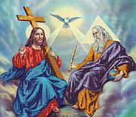Схема для вышивания бисером икона Бог Отец Бог Сын Бог Дух Святой КМИ 1008