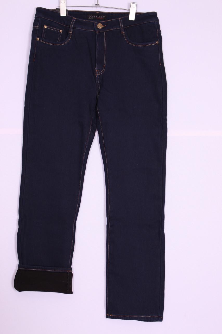 Женские джинсы на флисе больших размеров (код 719)