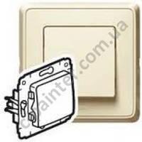 Механизм выключателя кнопочный 1-кл 10А Legrand Cariva слоновая кость 773711