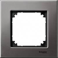 Рамка 1 пост Schneider Electric Merten M-Elegance Металл Серый родий MTN403114