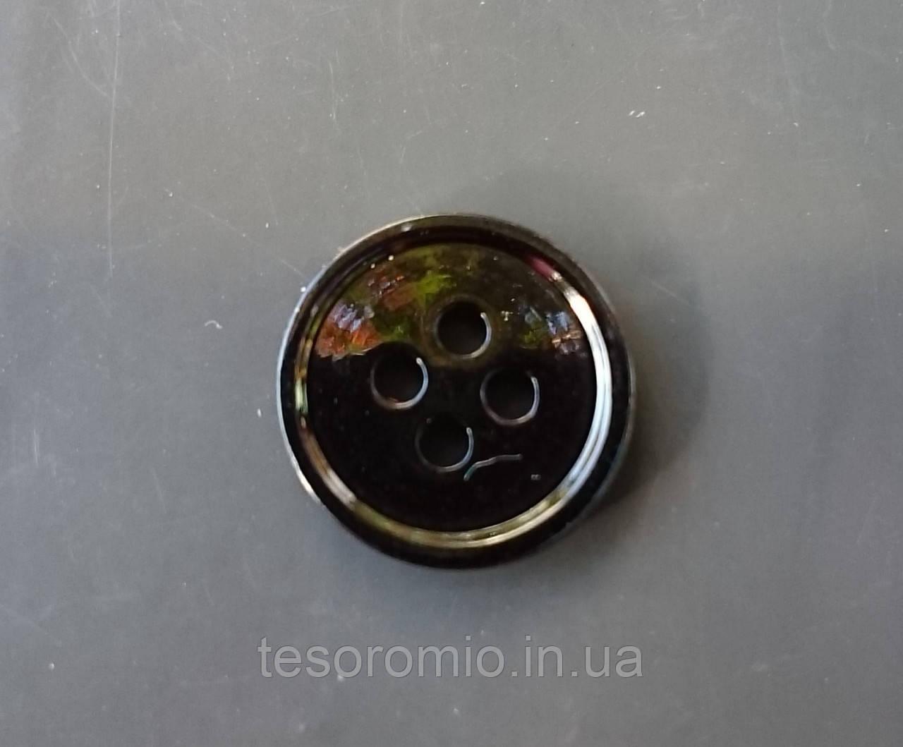 Пуговица рубашечная перламутровая, темно-фиолетовая, 11 мм диаметр
