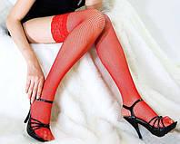Красные эротические чулки сетка Beileisi