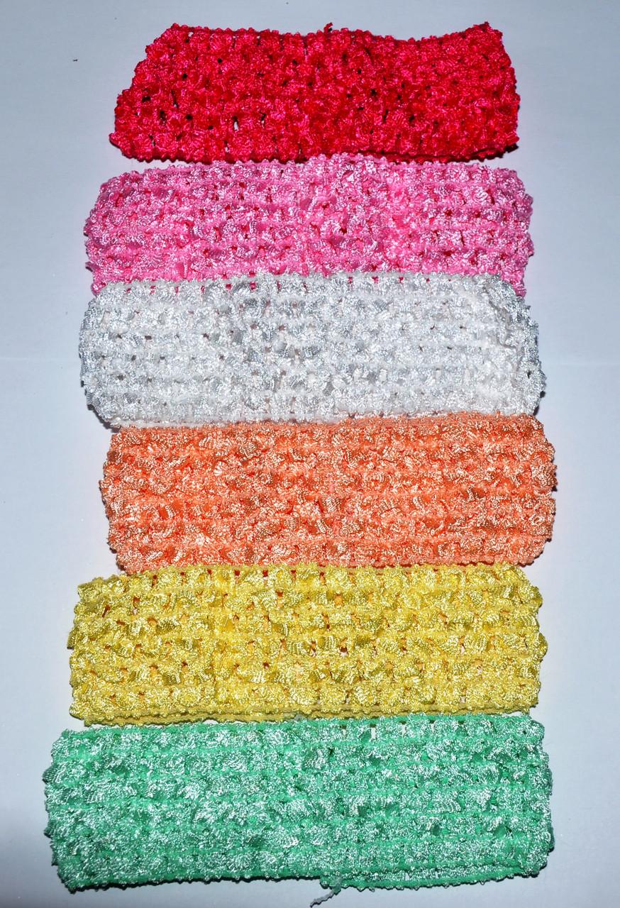 Дитячі мереживні повязочки для волосся (12 шт)