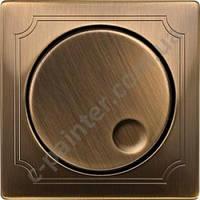 Накладка поворотного светорегулятора Merten Античная латунь MTN5250-4143