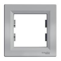 Рамка 1пост  горизонтальная Schneider Asfora Plus Алюминий EPH5800161