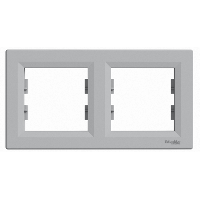 Рамка 2 поста горизонтальная Schneider Asfora Plus Алюминий EPH5800261