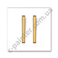 Центральная панель выключателя двойная ABB Neo Белый/ Оранжевый лед 3559M-A00652 43