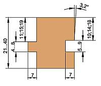 Фрезы для доски пола(регулируемый 21…40мм)   180х60хВ=21…40х3+3
