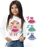"""Лонгслив и 2 сменных платья """"Doll Lizi""""; 3, 4, 5, 6-7, 8-9, 10-11, 12-13 лет, фото 1"""