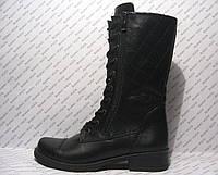 Высокий ботинок- берц женский натуральная кожа