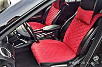 Накидки на сиденья (передние, ШИРОКИЕ, 2 ШТ., красные)