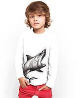 """Лонгслив для мальчика с карманом """"BiBi Shark""""; 3, 4, 5, 6-7, 8-9, 10-11, 12-13 лет"""