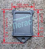 Задвижка заслонка печная чугунное литье (190х290 мм)