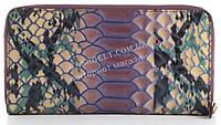 Функциональный прочный лаковый кожаный качественный женский кошелек барсетка MORO art. MR-119-76D фиолетовый