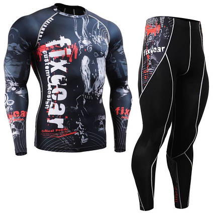Комплект Рашгард Fixgear и компрессионные штаны CFL-B30+P2L-B30, фото 2