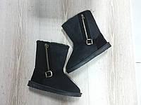 Стильные модные зимние  женские угги ,черные