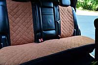 Чехлы на сиденья коричневые. Задний комплект. Авточехлы