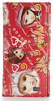Оригинальный лаковый женский кожаный кошелек высокого качества Helen art. 2384-C22 красный