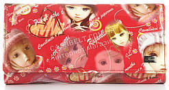 Оригинальный лаковый женский кожаный кошелек высокого качества Helen art. 2030-C22 красный