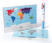 Скретч карта мира Travel Map Silver World