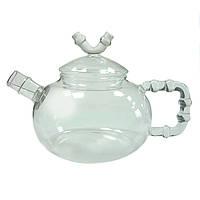 """Чайник заварочный из жаропрочного стекла """"Бамбук"""" 600 мл"""