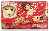 Оригинальный лаковый женский кожаный кошелек высокого качества Helen art. 2345-C22 красный