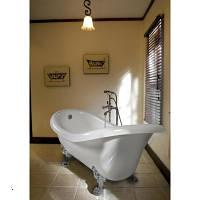 Отдельностоящая ванна на львиных лапах литой мрамор Marmite (Мармит) 174х72 см ROMANCE-1745